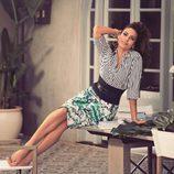 Eva Mendes con un total look de su propia colección primavera/verano 2017 con NY&C