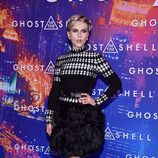 Scarlett Johansson con un total look black en la premiere de 'Ghost In The Shell' en París