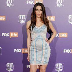 Pilar Rubio con un vestido étnico en la presentación de su nuevo programa 'Fit-Life'