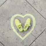 Zapatillas 'Suede Heart Reset' amarillas de Puma primavera/verano 2017