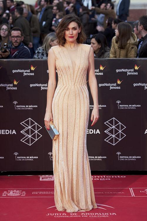 Marta Nieto con un vestido joya en la gala de clausura del Festival de Cine de Málaga 2017