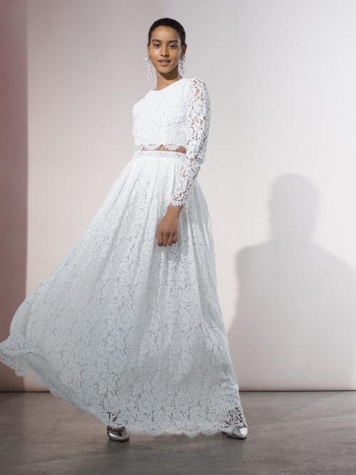 Vestido de novia de encaje de Asos primavera/verano 2017