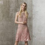 Vestido rosa cuarzo con pedrería de Asos primavera/verano 2017