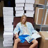 Chaqueta serigrafiada de la colección cápsula de Alexander Wang para Adidas Originals