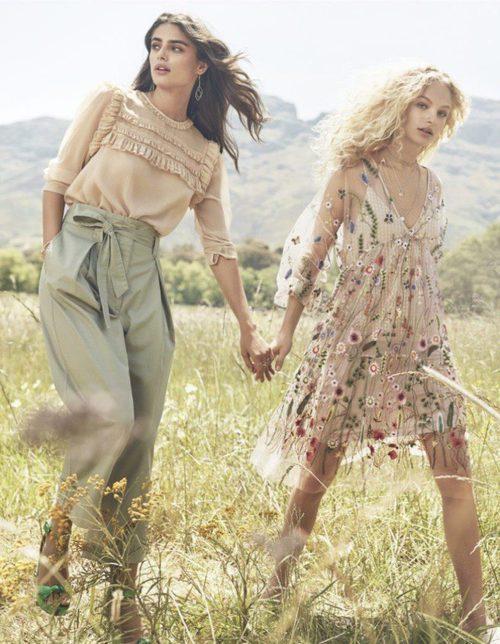 H&M lanza nueva colección con la llegada de la primavera inspirada en aires románticos y estampados florales