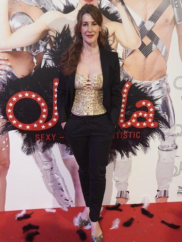 Mar Abascal con un corset en la presentación de la obra de teatro 'OhLaLa'