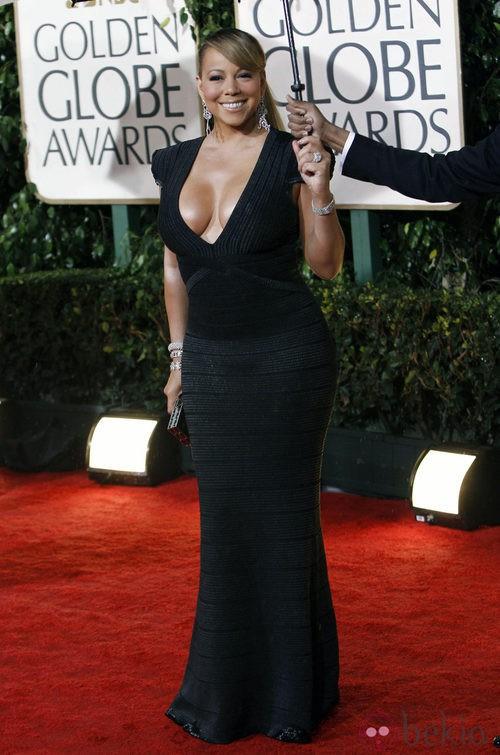 Mariah Carey con un vertiginoso escote