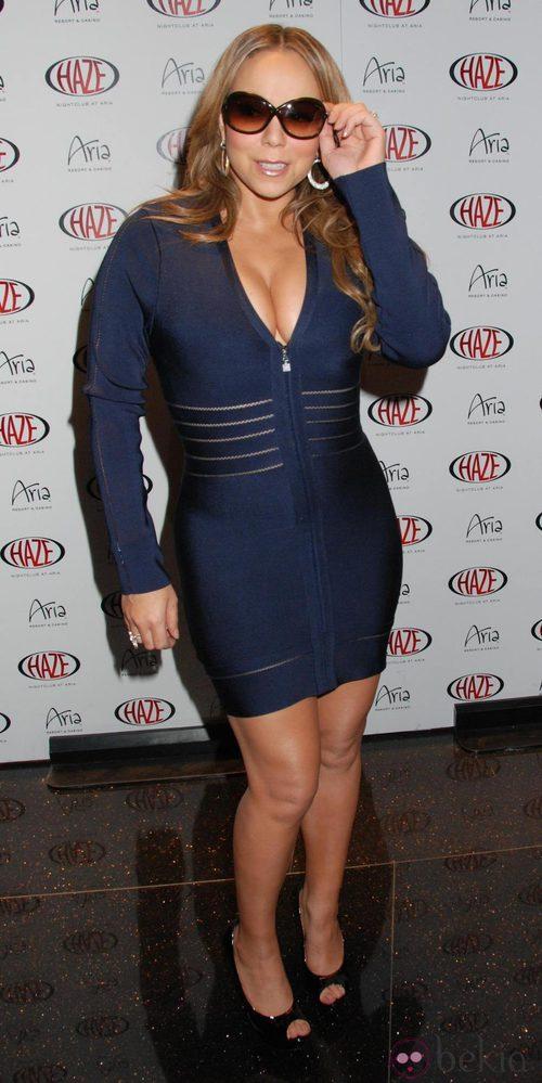Mariah Carey con un minivestido XS