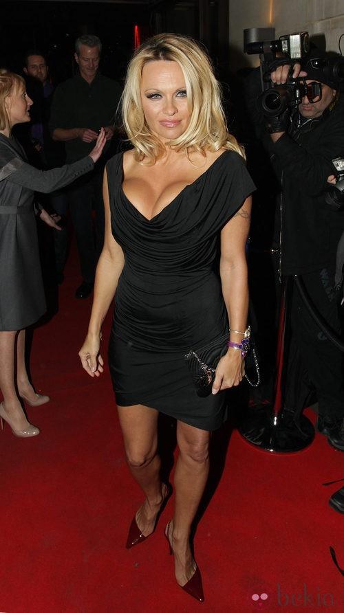 Pamela Anderson con un vestido escotadísimo