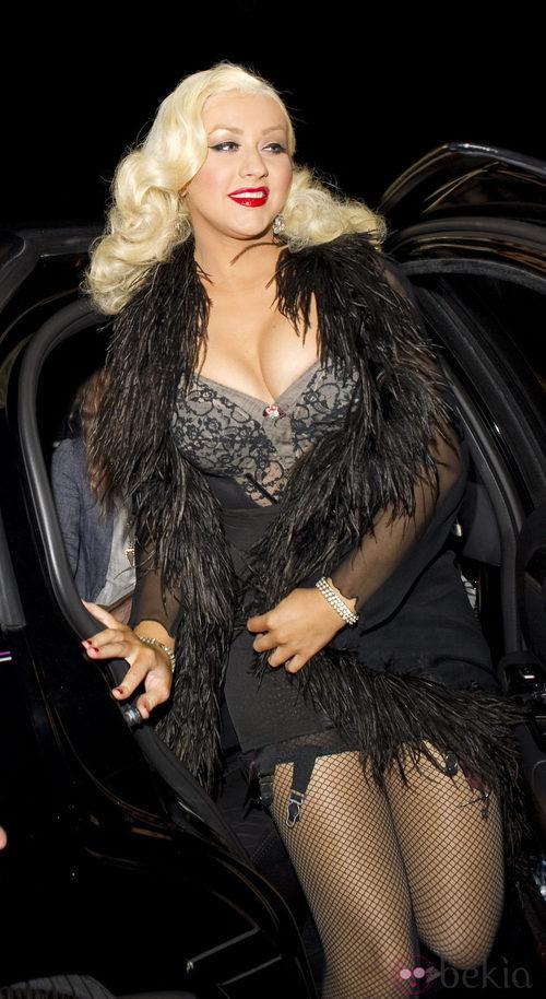 Christina Aguilera con un conjunto demasiado sexy