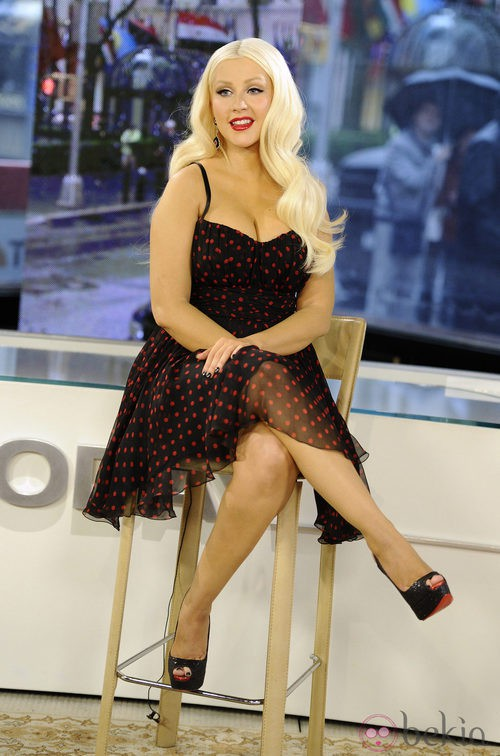 Christina Aguilera, de lunares