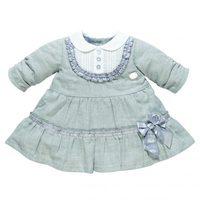 Vestido gris y blanco de la firma de bebé Chicco