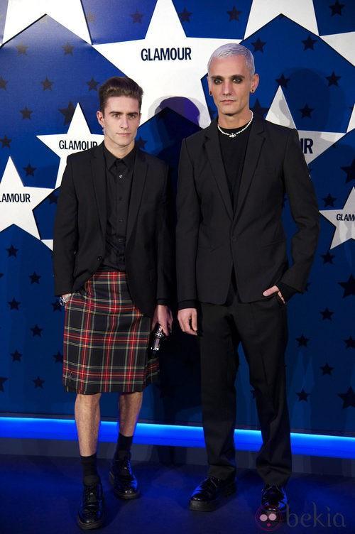 Look de David Delfín y Pelayo Diaz Zapico en los Premios Top Glamour 2011