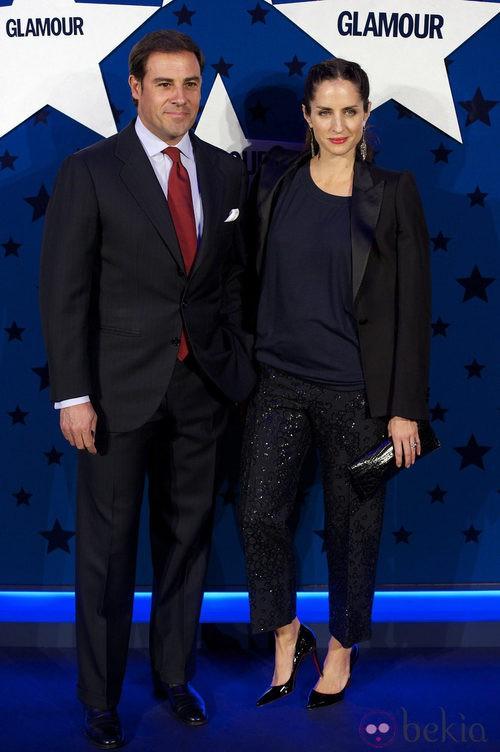 Look de Carolina Adriana Herrera y Miguel Báez 'El Litri' en los Premios Top Glamour 2011