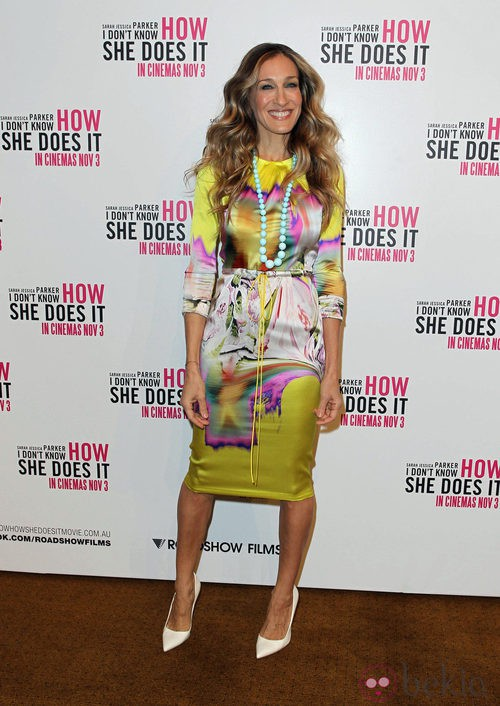 Sarah Jessica Parker con vestido de Vera Wang en Melbourne