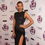 Look de Irina Shayk con un vestido negro en los MTV Europe Music Awards 2011
