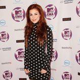 Look de Lena con un vestido de lunares en los MTV Europe Music Awards 2011