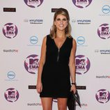 Look de Amy Huberman con un vestido negro en los MTV Europe Music Awards 2011