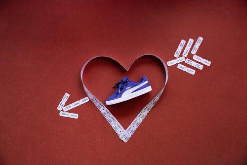 Zapatillas azules 'Basket Heart Denim' de Puma primavera/verano 2017