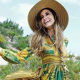 Ariadne Artiles con un vestido estampado de Guts&Love primavera/verano 2017