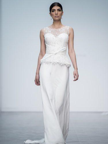 Vestido dos piezas de Hannibal Laguna en la Madrid Bridal Week 2017
