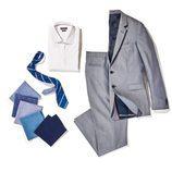 Traje de chaqueta gris perla de Tommy Hilfiger en su colección 'THFLEX Rafa Nadal Edition' 2017
