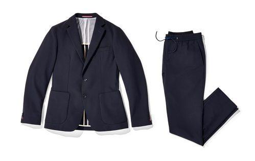 Traje de chaqueta azul marino de Tommy Hilfiger colección 'THFLEX Rafa Nadal Edition' 2017