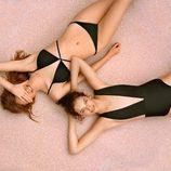 Bañdaor y bikini de color negro de la colección primavera/verano 2017 de Pull&Bear