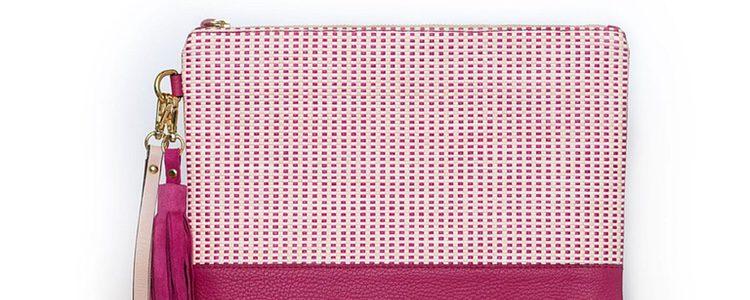 Bolso rosa fucsia 'Twist' de la firma solidaria Miemana