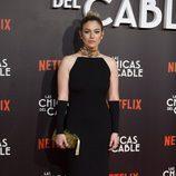 Blanca Suárez con un vestido dorado y negro en el preestreno mundial de 'Las chicas del cable'
