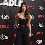 Juana Acosta con un total look black en el preestreno de la serie 'Las chicas del cable'