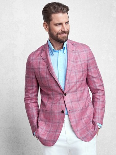Americana rosa chicle de la colección Golden Fleece de Brooks Brothers primavera/verano 2017