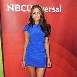 Olivia Culpo con un vestido mini en el NBC Universal SummerPress Day 2013