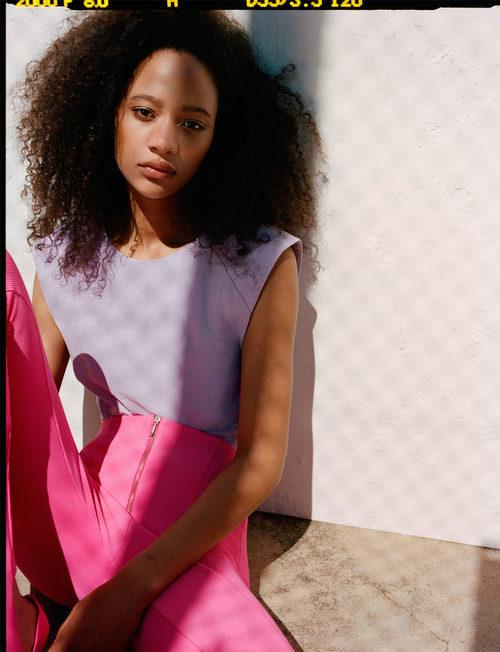 Leggin canalé de la colección neón primavera/verano 2017 de Zara TRF