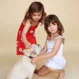 Vestido rojo y blanco para niña de la nueva colección para madres e hijas de Reformation