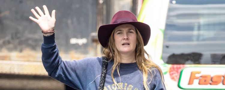 La actriz  Drew Barrymore  en Nueva York