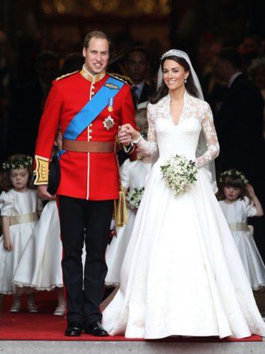 Kate Middleton el día de su boda con el Príncipe Guillermo de Inglaterra