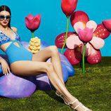 Kendall Jenner con un bañador bordado  para la nueva colección de La Perla