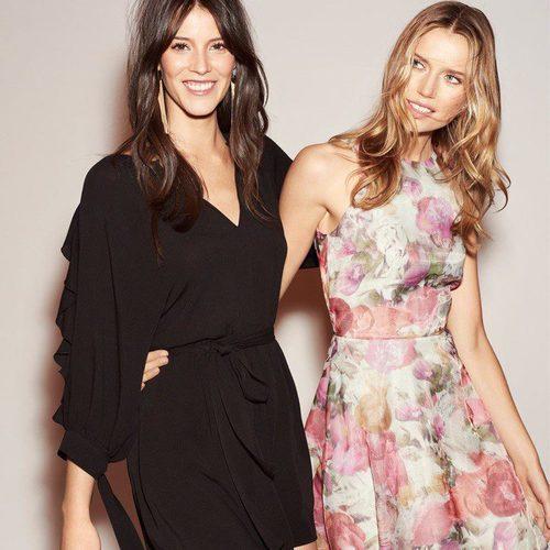 Vestido con estampados florales en la nueva colección de fiesta de H&M 2017