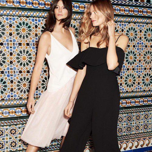 Vestidos con los hombros descubiertos de la nueva colección de fiesta de H&M 2017