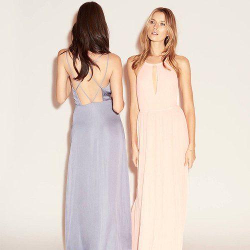 Vestidos largos de seda en tonos pastel en la nueva colección de fiesta de H&M