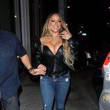 Mariah Carey con un look muy ajustado