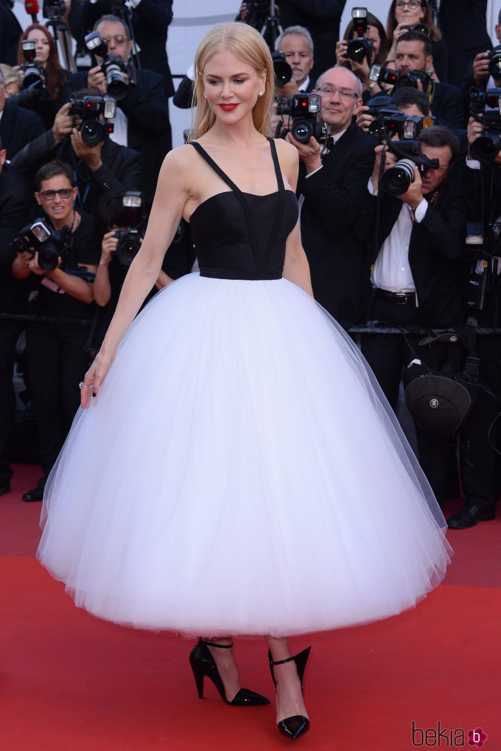Nicole Kidman con un diseño con falda de tul de Calvin Klein