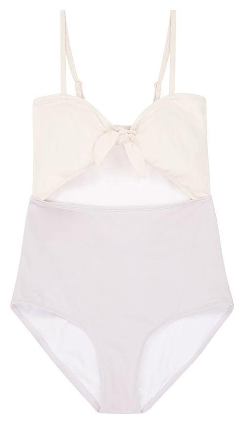 Bañador rosa y blanco de la nueva colección de bañadores de ASOS
