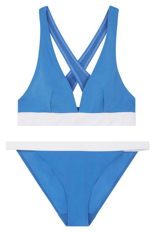 Bikini azul y blanco  de la nueva colección de bañadores de ASOS 2017