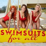 Modelos curvy posando para la campaña Swimsuits for all 2017