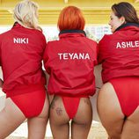 Ashley Graham, Niki Taylor y Teyana Taylor  posando en una campaña sin retoques
