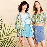 Pantalones cortos de la colección Verano 2017 de Lefties 'Tropical Forest'