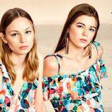 Camiseta y vestido estampados de la colección Verano 2017 de Lefties 'Tropical Forest'