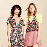 Vestido evasé con estampado floral de la colección Verano 2017 de Lefties 'Tropical Forest'